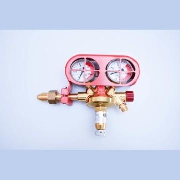 "Regulators F10 Multi-Effect Regulator Long Bullnose Acetylene 3/8"" with Red Gauge Guard"